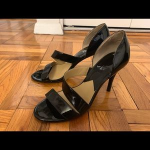 Michael Kors Black Patent Leather Heels- 7.5 Size